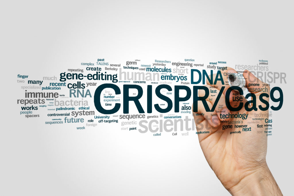 CRISPR/Cas9 system for editing, regulating and targeting genomes (biotechnology and genetic engineering) word cloud